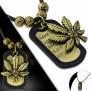 Náhrdelník Psí známka, Marihuana , Ganja CTH502T